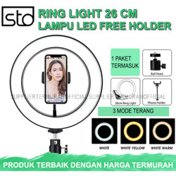 Ring Light LED 26 CM - Lampu Make Up Vlog Tik Tok Ringlight 26cm