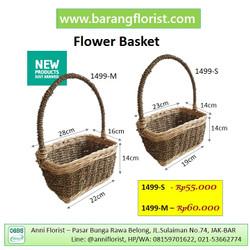 Flower Basket (1499-S), keranjang bunga, Aksesoris toko bunga