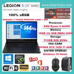 LENOVO LEGION 5 RYZEN 5 4600H GTX1650Ti 512GB16GB 144Hz 100%sRGB Win10