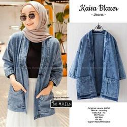 Kaisa Blazer wanita blazer jeans cardygan kardigan outer jaket wanita