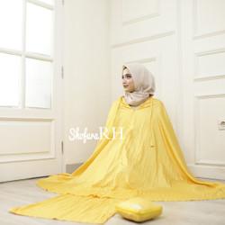Mukena Parasut 2in1 Hawa Set Sejadah dan Tas Warna Kuning