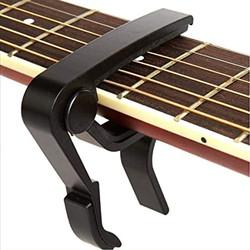 Guitar Capo Kapo Gitar Bass Akustik Elektrik Ukulele Aluminium Alloy - Hitam