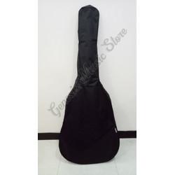 Tas Gitar Klasik Akustik / Elektrik Softcase Ransel - Kanvas Tebal, Hitam
