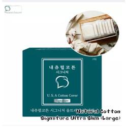 Natural Cotton Signature Ultra Slim (Large-28cm) 1 Pack (10pcs)
