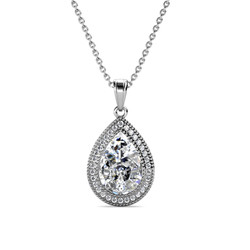 Iconic Pear Pendant - Kalung Crystal by Her Jewellery