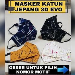MASKER KAIN 3 PLY / 3 LAPIS NON MEDIS KATUN JEPANG HARGA GROSIR !!