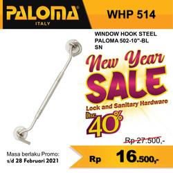 "Window Hook PALOMA WHP 514 STEEL 502-10"" | Hak Angin Penahan Jendela"