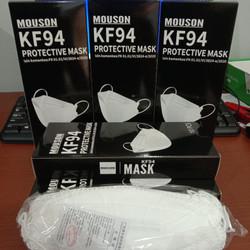 Masker Korea KF94 Mouson 4 Ply 1 Box isi 10Pcs White Masker Kesehatan
