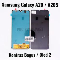 Kontras Bagus Oled 2 LCD Touchscreen Fullset Samsung Galaxy A20 - A205 - Hitam