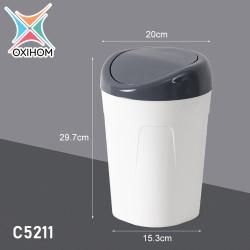 Oxihom C5211 Medium Tempat Kotak Keranjang Sampah Plastik Trash Bin - C5211 Abu Abu