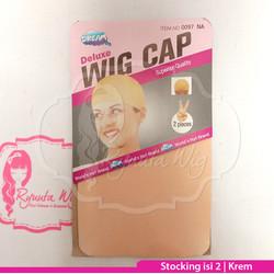 HAIRNET STOCKING Hair Net WIGCAP Wig Cap BLACK HITAM KREM CREAM BEIGE - Krem