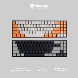Rexus Keyboard Wireless Gaming Mechanical Daxa M71 PRO - White Orange, Red Switch