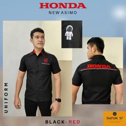 Seragam Kemeja Honda New Asimo Black-Red (Pria)