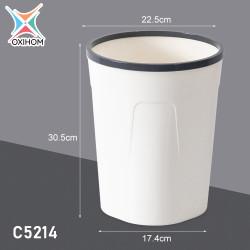 Oxihom C5211 Medium Tempat Kotak Keranjang Sampah Plastik Trash Bin - C5214 Abu Abu