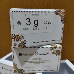 3 Gram Emas/Antam/Certieye/Certi/Certicard