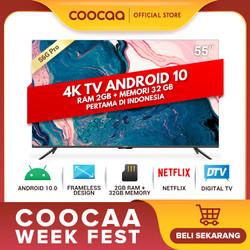 COOCAA 55 inch 4K Smart TV - TV Android 10.0 (Pertama di Indonesia)