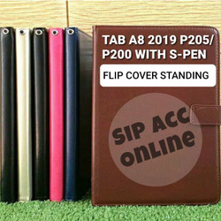 FLIP COVER STANDING SAMSUNG TAB A8 2019 P205 LEATHER CASE FLIP COVER