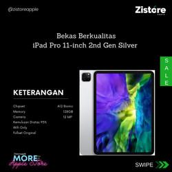 READY!!! iPad Pro 128GB 11-inch 2nd Gen Silver 2nd/Bekas