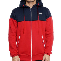 Bloods Sweater Zipper Hoodie Laps 02 Navy Red