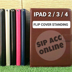 FLIP COVER STANDING IPAD 2/ IPAD 3 / IPAD 4 LEATHER CASE FLIP COVER