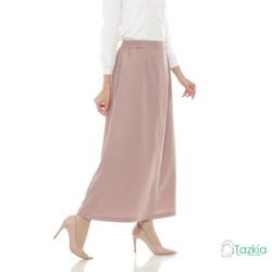 Bawahan Muslim Wanita | Basic Skirt Cokelat | Rok Polos | Tazkia Hijab