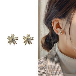 Anting Wanita Premium Zircon Korea Motif Salju Perhiasan Aksesoris