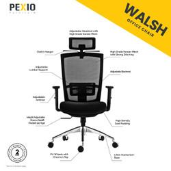 Kursi kantor jaring PEX | Office Chair PEX | Walsh