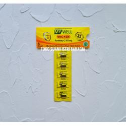 Vitamin C My Well 500 MG + Zinc 10 MG Satu Amplop Isi 5 BPOM MUI