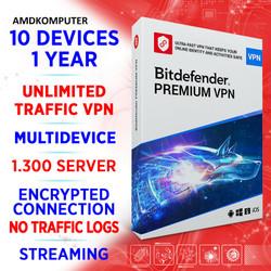 Bitdefender Premium VPN unlimited kuota 10 devices 1 year kirim buyer