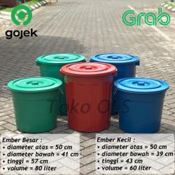 Tong Sampah Besar / Tong Sampah Jumbo Murah Kuat Tebal - Merah, 80 Liter