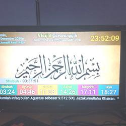 Jadwal Shalat Digital Konek ke Layar TV