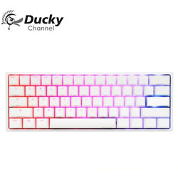 Ducky - One 2 Mini v2 Pure White RGB Cherry MX Speed Silver - Keyboard
