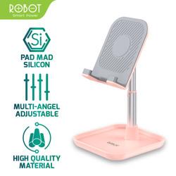 ROBOT Aluminium Alloy Stand for Smartphone / Tablet - RT-US04 - Merah Muda