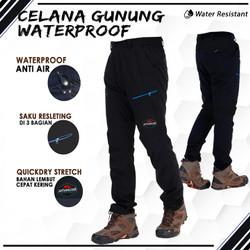 Celana Gunung Waterproof Panjang Pria Outdoor Hiking Quickdry Stretch