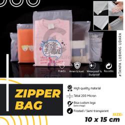 10x15CM Zipper Storage Bag Matte Frosted Kantong Plastik Travel Polos