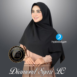 Hijab Jilbab Segi Empat Diamond Syari lasercut Kerudung Syar'i Azara