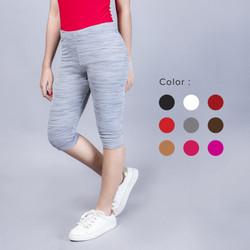 Promo Celana Leging 3/4 Wanita Tebal Anti Nyemplak