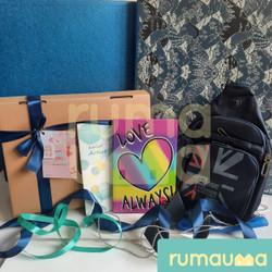 RUMAUMA Heart Man Valentine Kado Cowok Hadiah Parcel Hampers Tas Murah