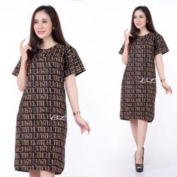 Promo Batik Dress Motif Aksoro Jowo