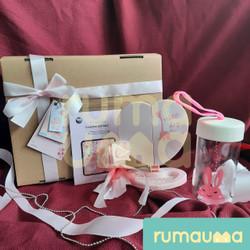 RUMAUMA Falling Valentine Hadiah Wanita Kaca Love Botol Parcel Bunga