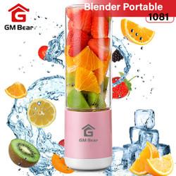 GM Bear Portable USB Blender Kaca 4 Mata Pisau-Portable Blender Juicer