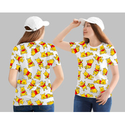T-shirt Pooh / Baju Kaos Distro Wanita Cotton 30s