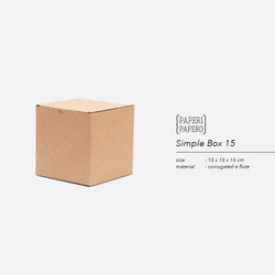 Simple Square Box - Boks Kardus Kotak Mug / Gelas / Hampers (15x15x15)