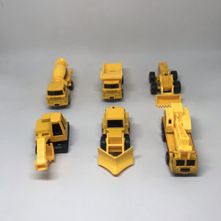 Mainan mobil-mobilan metal diecast kendaraan konstruksi (6 pcs)