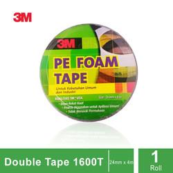 3M 1600 T Double Tape PE Foam tebal: 1.0 mm, size 24 mm x 4m