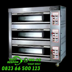 Oven Pizza Gas Luxury 3 Deck 6 Trays