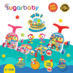 sugar baby 10 in 1 premium activity walker & table