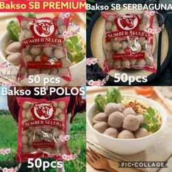 Bakso sapi SB premium isi 50 Bakso sapi Sumber Selera Kebun jeruk ASLI - bakso POLOS
