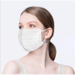 Masker 3 ply 3ply isi 50 putih polos korea white Earloop bedah BFE 95%
