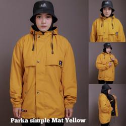 Jaket Outdoor Parka Simpel Pria Wanita Outwear Parasut Waterproof